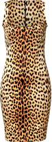 Just Cavalli Orange/Black Leopard Print Dress