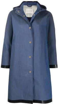 MACKINTOSH Airdrie hooded denim raincoat