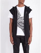 Boy London Eagle Sleeveless Cotton-jersey Hoody