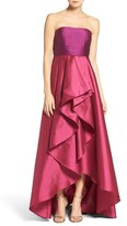 Adrianna Papell Women's Colorblock Strapless Gown