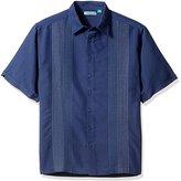 Cubavera Men's Big-Tall Short Sleeve Ombre Panel Woven Shirt