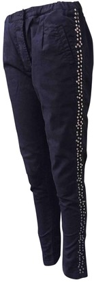 Laurence Dolige Black Cotton Trousers for Women