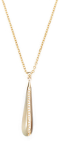 Maiyet Natural Horn & 0.55 Total Ct. Diamond Teardrop Pendant Necklace