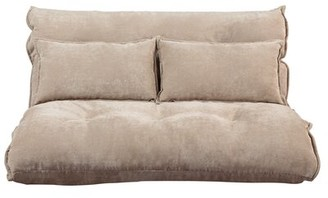 """BEIGE Peasely 45.6"""" Armless Sofa Red Barrel Studio Fabric Upholstery Color"""