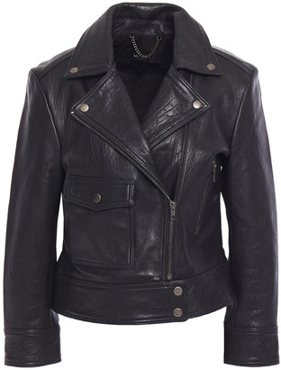 Muu Baa Muubaa Shuna Textured-leather Biker Jacket