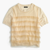 J.Crew Tippi short-sleeve sweater with tulle