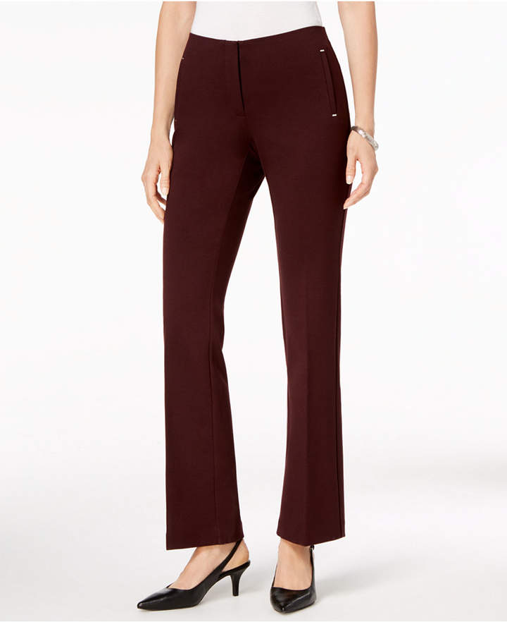 Alfani Ponte-Knit Trousers