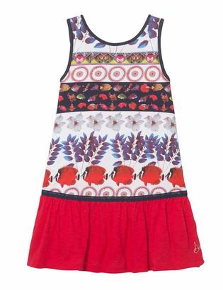 Desigual Girl Knit Dress Sleeveless (Vest_Madison) White (White 1000) 152 (Manufacturer Size: 11/12)