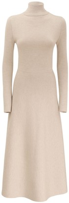Gabriela Hearst Cashmere & Silk Knit Turtleneck Dress