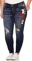 Arizona Limited Edition Patched Skinny Jeans - Juniors Plus