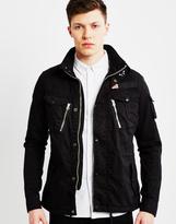 Schott NYC Short Field Jacket Black