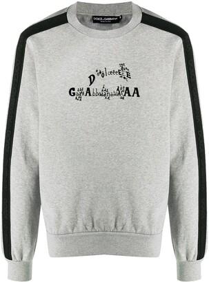 Dolce & Gabbana Logo-Print Sweatshirt