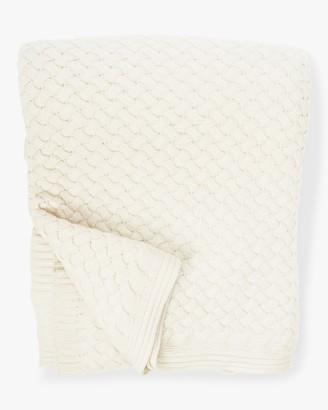 Sofia Cashmere Piemonte Basketweave Knit Cashmere Throw