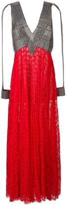 Christopher Kane pleated lace crystal dress