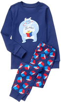 Gymboree Navy 'Can I Open It Yeti' Pajama Set - Infant Toddler & Boys