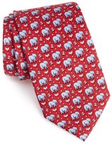 Vineyard Vines 'Elephants' Print Silk Tie