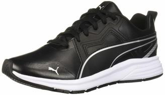 Puma Unisex-Child Pure Jogger Sneaker Black Silver White 6 M US Big Kid