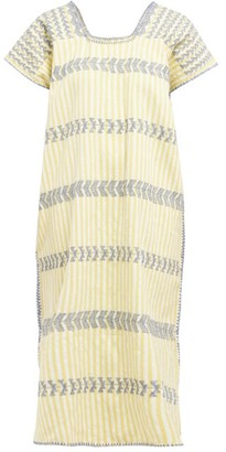 Pippa Holt - No.114 Embroidered Cotton Kaftan - Womens - Yellow Multi