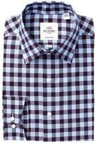 Ben Sherman Herringbone Check Florentine Tailored Slim Fit Dress Shirt
