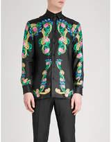 Versace Beverly Palm Regular-fit Silk-twill Shirt