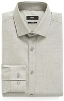 BOSS Men's Slim Fit Solid Dress Shirt