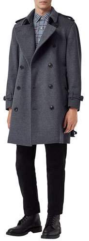 Burberry Men's Kensington Wool-Blend Double-Breasted Coat