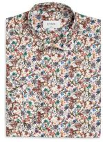 Eton Slim-Fit Floral Print Dress Shirt
