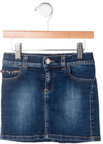 Gucci Girls' Horsebit Denim Skirt