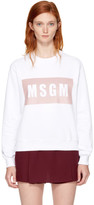 MSGM White Box Logo Sweatshirt
