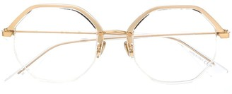 Christian Dior DiorLine1 hexagonal-frame glasses