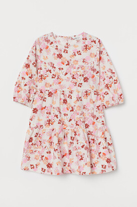 H&M Patterned Dress - Beige