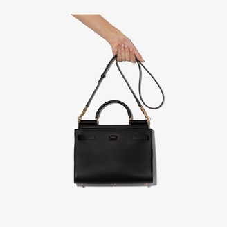 Dolce & Gabbana Black 62 Small Leather Tote Bag