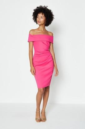 Coast Bardot Side Ruched Dress