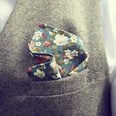 Walter Dancys Green Floral Handkerchief