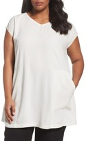Eileen Fisher Plus Size Women's Silk V-Neck Tunic