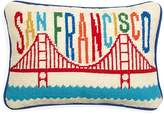"Jonathan Adler San Francisco Jet Set Needlepoint Decorative Pillow, 9"" x 12"""