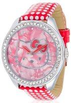 Hello Kitty Girls Watch Yae Red PU Leather Analog Quartz HK480S - 868