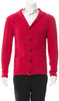 Ovadia & Sons Shawl Collar Rib Knit Cardigan