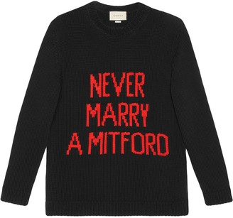 Gucci Never Marry a Mitford cotton sweater