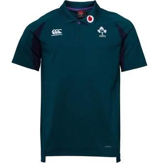 Canterbury of New Zealand Mens Ireland Rugby VapoDri Cotton Pique Polo Botanical Garden