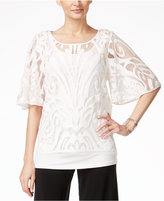 Alfani PRIMA Layered Crochet Top, Only at Macy's