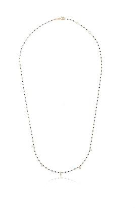 Gigi Clozeau Black 18kt Yellow Gold Beaded Diamond Necklace