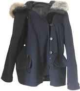 MANGO Navy Coat for Women