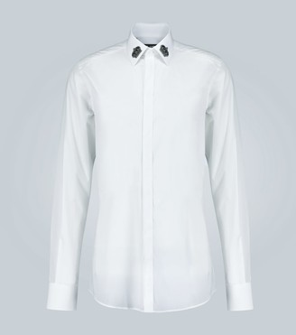 Dolce & Gabbana Crown-appliquAd slim-fit shirt