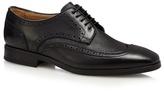 Jeff Banks Black Wingtip Brogue Shoes