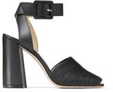 Jimmy Choo BAJA 100 Black Nappa and Vachetta Leather Sandals