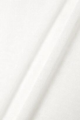 FRANCES DE LOURDES Marlon Slub Cashmere And Silk-blend Top - White