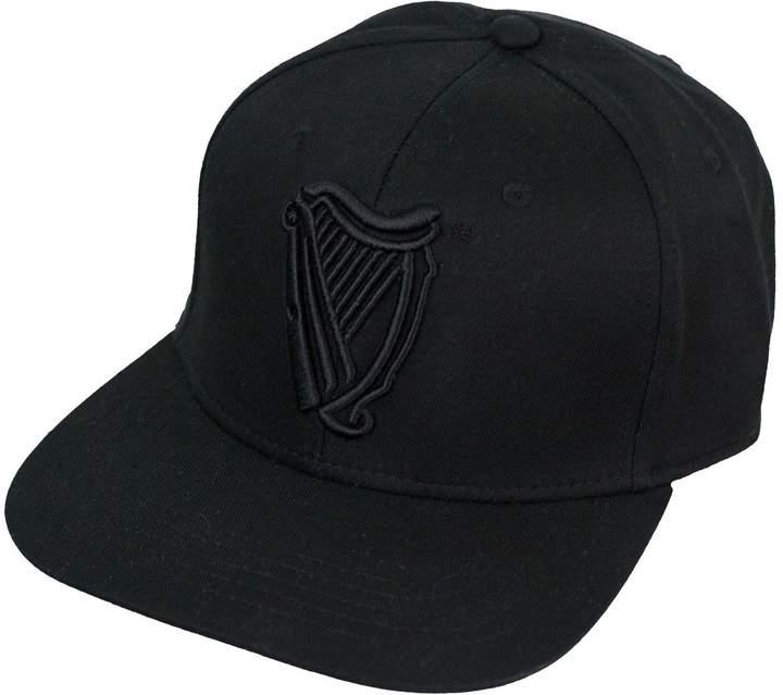 Guinness Official Merchandise Harp Logo Baseball Cap - Cotton Embroidered Flat Brim Hat