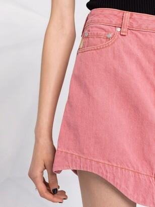 Ganni Asymmetric Denim Miniskirt