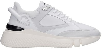 Buscemi Veloce Sneakers In White Suede And Leather